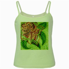 Colorful Design Acrylic Green Spaghetti Tank