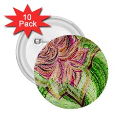 Colorful Design Acrylic 2.25  Buttons (10 pack)