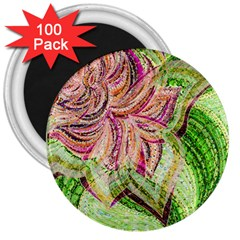 Colorful Design Acrylic 3  Magnets (100 Pack)