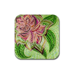 Colorful Design Acrylic Rubber Square Coaster (4 Pack)