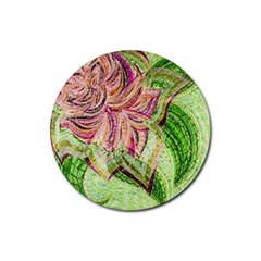 Colorful Design Acrylic Rubber Round Coaster (4 pack)
