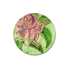 Colorful Design Acrylic Magnet 3  (round)