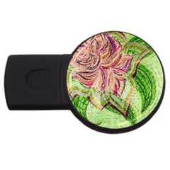 Colorful Design Acrylic Usb Flash Drive Round (2 Gb)