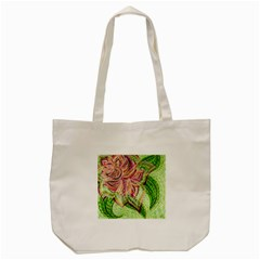 Colorful Design Acrylic Tote Bag (cream)