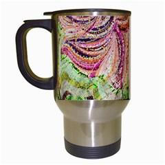 Colorful Design Acrylic Travel Mugs (white)