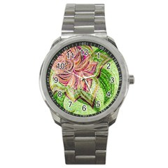 Colorful Design Acrylic Sport Metal Watch
