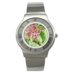 Colorful Design Acrylic Stainless Steel Watch