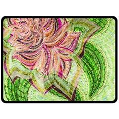 Colorful Design Acrylic Fleece Blanket (large)