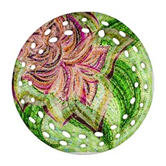 Colorful Design Acrylic Ornament (round Filigree)