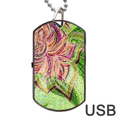 Colorful Design Acrylic Dog Tag Usb Flash (two Sides)