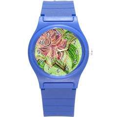 Colorful Design Acrylic Round Plastic Sport Watch (s)