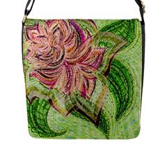 Colorful Design Acrylic Flap Messenger Bag (l)