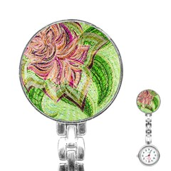 Colorful Design Acrylic Stainless Steel Nurses Watch