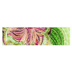Colorful Design Acrylic Satin Scarf (oblong)