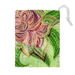 Colorful Design Acrylic Drawstring Pouches (extra Large)