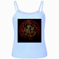 Light Picture Cotton Buds Baby Blue Spaghetti Tank