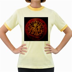 Light Picture Cotton Buds Women s Fitted Ringer T Shirts