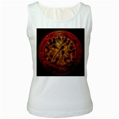 Light Picture Cotton Buds Women s White Tank Top