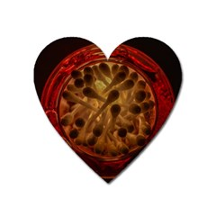 Light Picture Cotton Buds Heart Magnet
