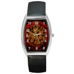 Light Picture Cotton Buds Barrel Style Metal Watch