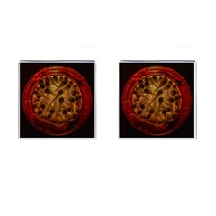 Light Picture Cotton Buds Cufflinks (square)