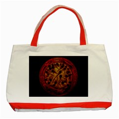 Light Picture Cotton Buds Classic Tote Bag (red)