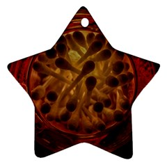 Light Picture Cotton Buds Star Ornament (two Sides)
