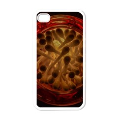 Light Picture Cotton Buds Apple Iphone 4 Case (white)
