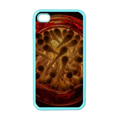 Light Picture Cotton Buds Apple Iphone 4 Case (color)