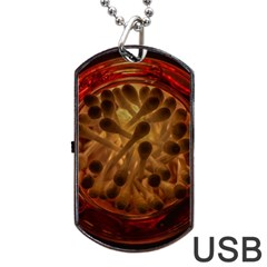 Light Picture Cotton Buds Dog Tag Usb Flash (one Side)