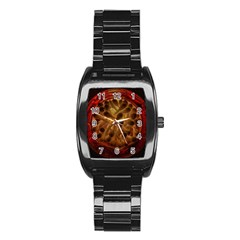 Light Picture Cotton Buds Stainless Steel Barrel Watch