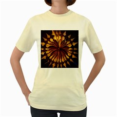 Light Star Lighting Lamp Women s Yellow T-Shirt