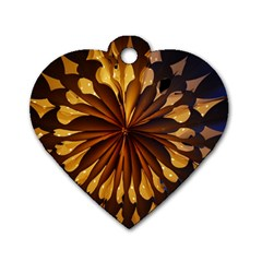 Light Star Lighting Lamp Dog Tag Heart (two Sides)