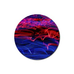 Lights Abstract Curves Long Exposure Rubber Coaster (round)