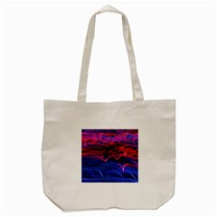 Lights Abstract Curves Long Exposure Tote Bag (cream)