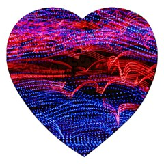Lights Abstract Curves Long Exposure Jigsaw Puzzle (heart)
