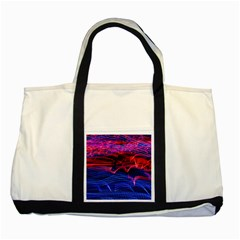Lights Abstract Curves Long Exposure Two Tone Tote Bag