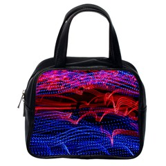 Lights Abstract Curves Long Exposure Classic Handbags (one Side)