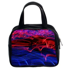Lights Abstract Curves Long Exposure Classic Handbags (2 Sides)