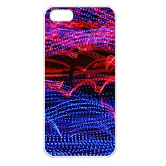 Lights Abstract Curves Long Exposure Apple Iphone 5 Seamless Case (white)