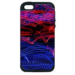 Lights Abstract Curves Long Exposure Apple Iphone 5 Hardshell Case (pc+silicone)