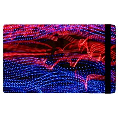 Lights Abstract Curves Long Exposure Apple Ipad 2 Flip Case