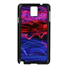 Lights Abstract Curves Long Exposure Samsung Galaxy Note 3 N9005 Case (black)
