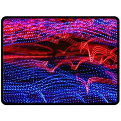 Lights Abstract Curves Long Exposure Double Sided Fleece Blanket (large)