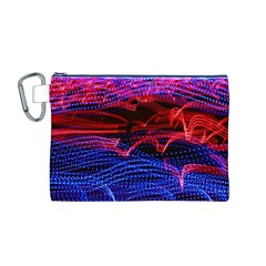 Lights Abstract Curves Long Exposure Canvas Cosmetic Bag (m)
