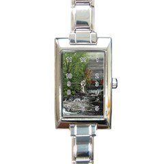 Landscape Summer Fall Colors Mill Rectangle Italian Charm Watch