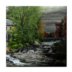 Landscape Summer Fall Colors Mill Tile Coasters
