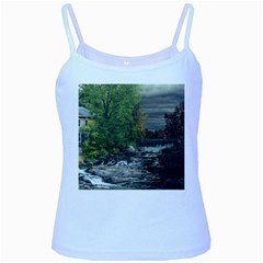 Landscape Summer Fall Colors Mill Baby Blue Spaghetti Tank