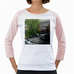 Landscape Summer Fall Colors Mill Girly Raglans