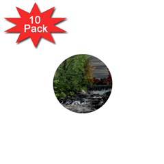 Landscape Summer Fall Colors Mill 1  Mini Buttons (10 Pack)